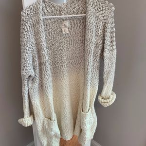 Ruby Moon White and Grey Cozy Cardigan